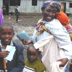 mother and children during Kenya 2000 mission